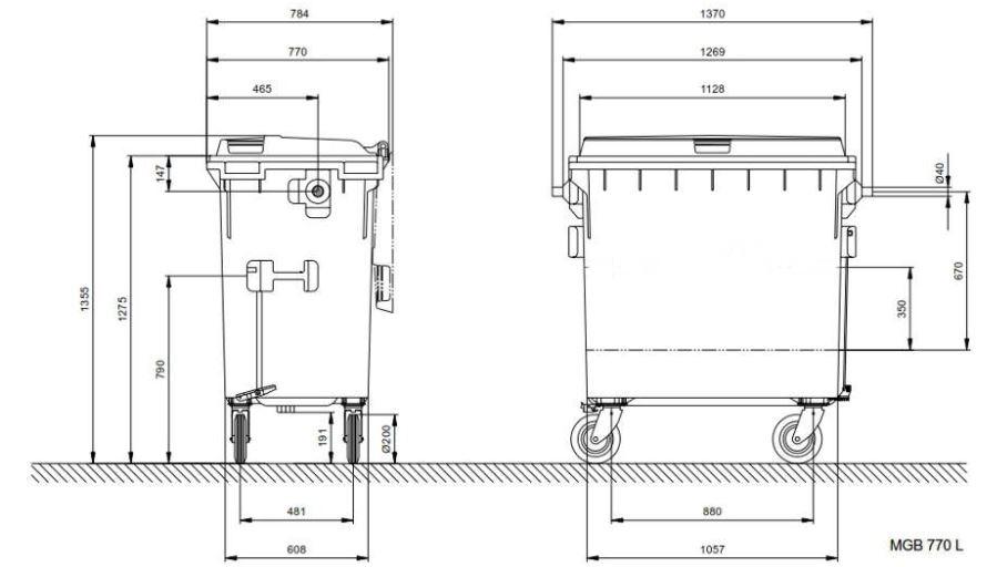 Kunststoffcontainer 770lt