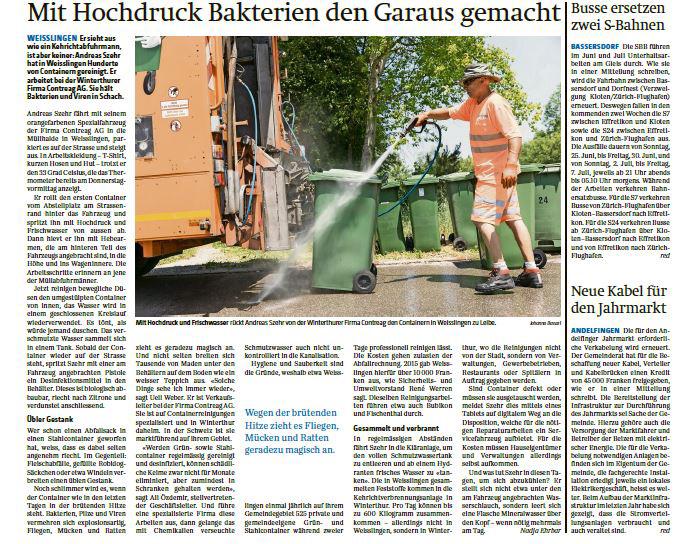 Reinigungsaktion in Weisslingen