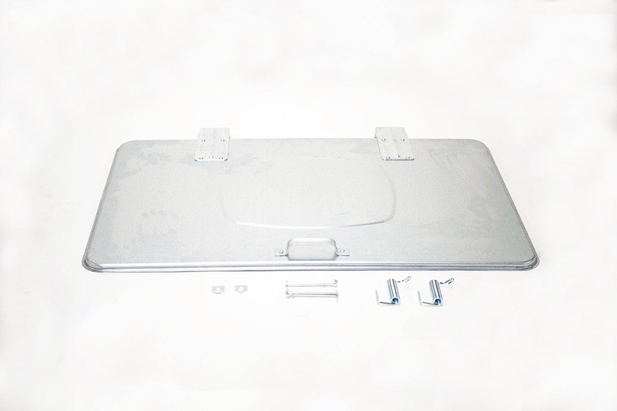 Couvercle, complet, pour <br> container en acier
