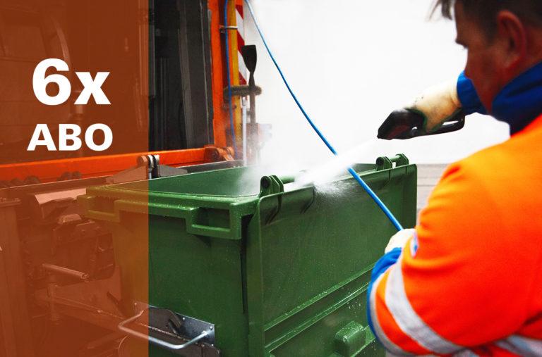 Container-Reinigung 2-Räder <br> (3-Jahres-ABO)